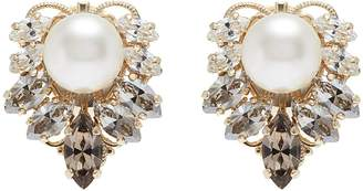 Anton Heunis Swarovski crystal pearl cluster stud earrings