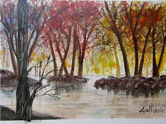 One Kings Lane Vintage Watercolor Landscape