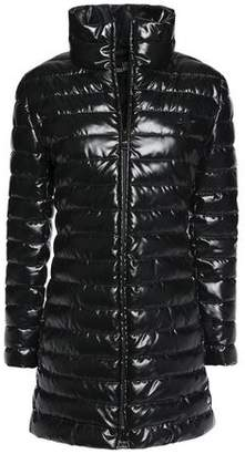 Love Moschino Quilted Satin-Shell Coat