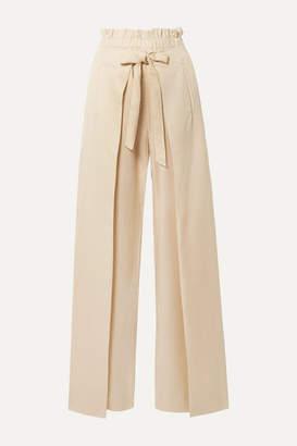 Cult Gaia Naomi Tie-front Tencel Wide-leg Pants - Ecru