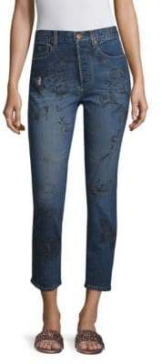Alice + Olivia AO.LA by Painted High Rise Jeans