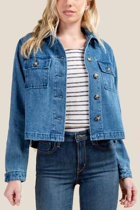 francesca's Christina Tortoise Button Jacket - Lite