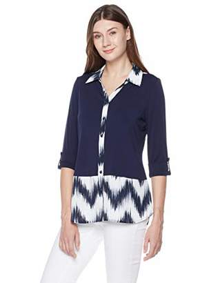 Suite Alice Short Sleeve Color Block Woven Shirt