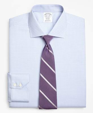 Brooks Brothers Regent Fitted Dress Shirt, Non-Iron Two-Tone Graph Check