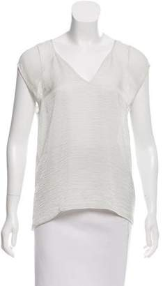 Helmut Lang Sleeveless V-Neck Top