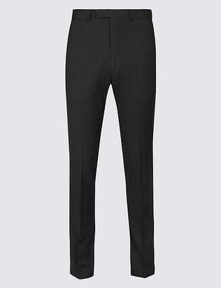 Marks and Spencer Black Textured Modern Slim Fit Trousers