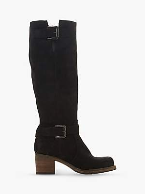 817ea15708a6 Dune Tansey Knee High Boots, Black Suede