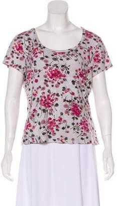 St. John Sport Floral Short Sleeve Top