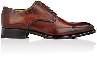 Harris Men's Stitched Cap-Toe Bluchers - Med. brown