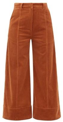 Dodo Bar Or Ivy Cotton Blend Corduroy Wide Leg Trousers - Womens - Brown