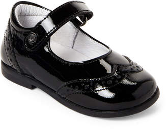 Naturino Toddler Girls) Black Wingtip Mary Jane Shoes