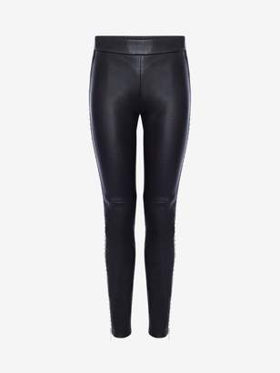 Alexander McQueen Studded Leather Pants