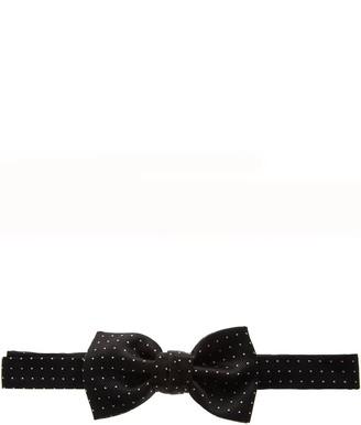 Lanvin Black Silk Bow-tie