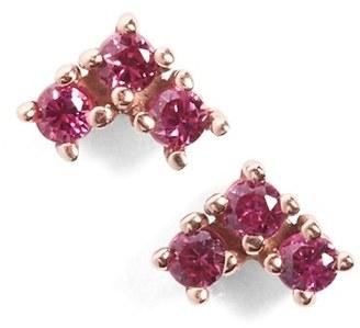 Women's Anna Sheffield 'Bea' Ruby Arrow Stud Earrings $800 thestylecure.com