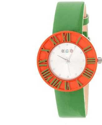 3ef03b3c7c2 Crayo Prestige Green Strap Watch