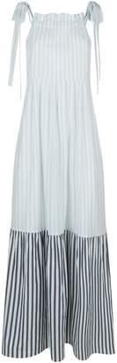 Max Mara Striped Tiered Dress