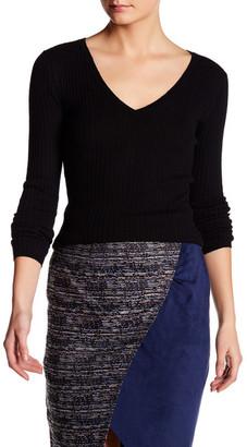 Catherine Malandrino Cashmere Rib V-Neck Pullover $248 thestylecure.com