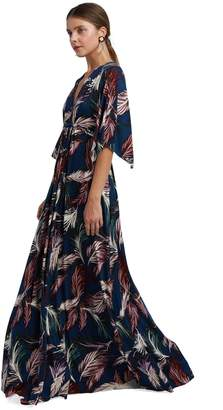 Rachel Pally Long Caftan Dress - Feather Print