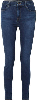 J Brand Maria High-rise Skinny Jeans - Dark denim