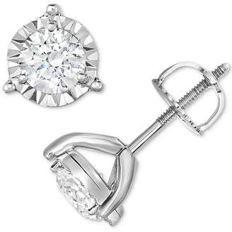 Trumiracle Diamond Three-Prong Stud Earrings (1-1/4 ct. t.w.) in 14k White Gold