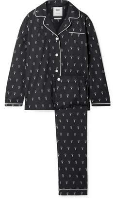 Sleepy Jones - Bishop Printed Cotton-poplin Pajama Set - Black