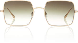 Garrett Leight Crescent Acetate Square-Frame Sunglasses
