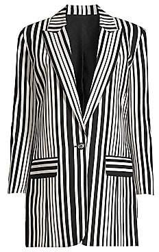 The Kooples Women's Stripe Single-Breasted Blazer