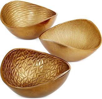 Simply Designz Metallic Organic Nut Bowls, Set of 3