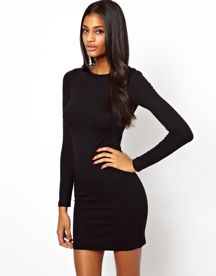 Asos Jewel Trim Back Mini Dress