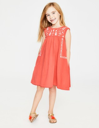 Boden Bold Embroidered Jersey Dress