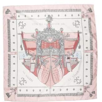 Vue Hermà ̈s du Carosse de la Galà ̈re la Réale Silk Scarf Pink Hermà ̈s du Carosse de la Galà ̈re la Réale Silk Scarf