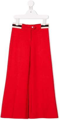 Gucci Kids wide-leg trousers with Web