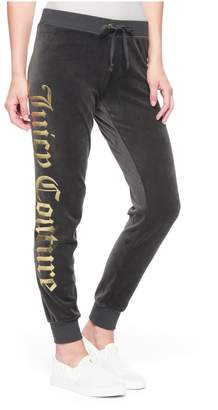 Juicy Couture Juicy Mirror Emblem Velour Zuma Pant