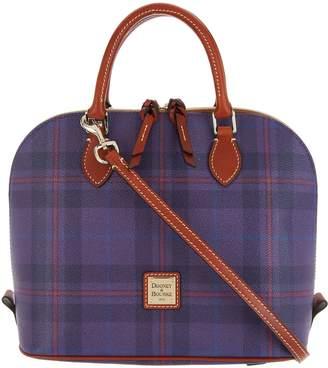 Dooney & Bourke Tiverton Plaid Zip Zip Satchel Handbag