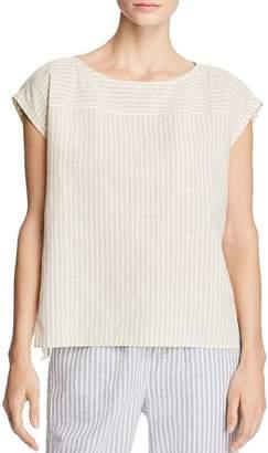 Eileen Fisher Striped Cap-Sleeve Top