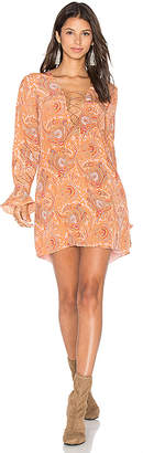 MAJORELLE Roundup Dress in Peach $228 thestylecure.com