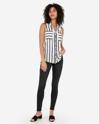 76b54641c4bed Express Striped Slim Fit Sleeveless Portofino Shirt