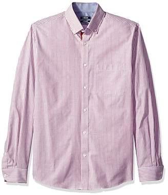 Izod Men's Slim Fit Collegiate Stripe Buttondown Collar Dress Shirt