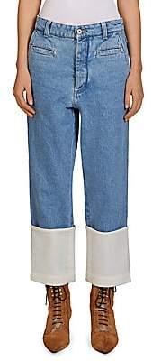 Loewe Women's Cotton Fisherman Jeans