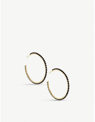 Kendra Scott Birdie 14ct gold-plated brass and tinted glass hoop earrings