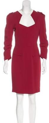 Roland Mouret Long Sleeve Knee-Length Dress