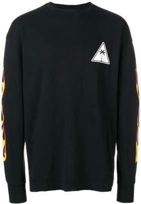 Palm Angels flame motif sweatshirt