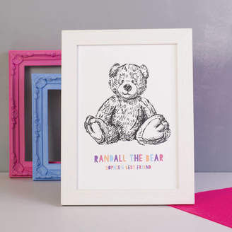 Oakdene Designs Personalised Teddy Bear Print