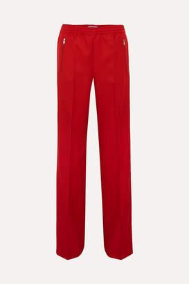 Prada Gabardine Track Pants - Red