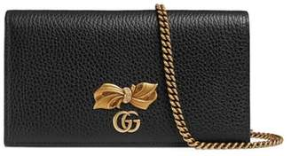 Gucci Fiocchino Leather Wallet on a Chain