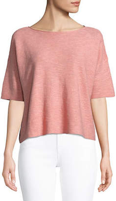 Eileen Fisher Boat Neck Box Top
