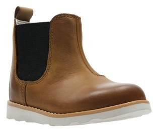 64dfdd2ed1 Next Boys Clarks Tan Leather Crown Halo Gusset Toddler Ankle Boot