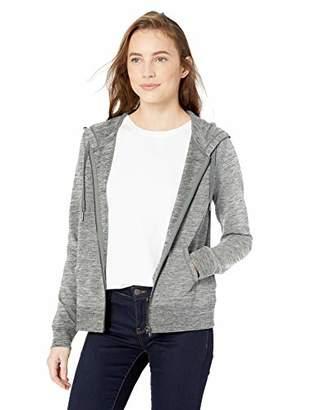 Daily Ritual Women's Terry Cotton and Modal Full-Zip Hooded Sweatshirt