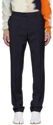 Maison Margiela Navy Wool Trousers