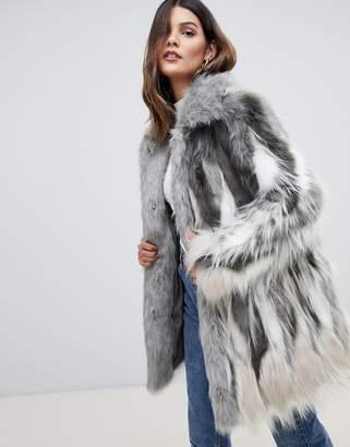 Urban Code Urbancode faux fur coat with collar